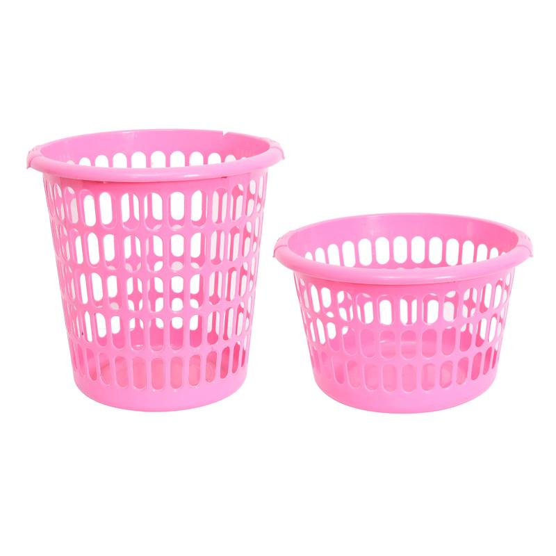 Cesto de ropa rosa