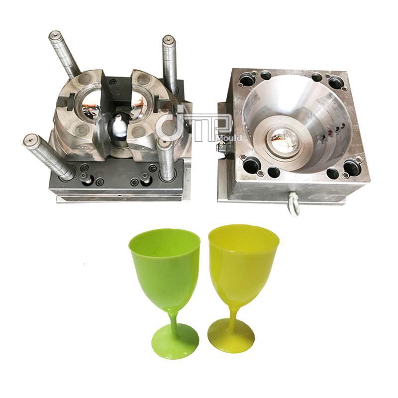 Molde plástico de acero de la taza de vino de la inyección del molde P20 del material de los PP