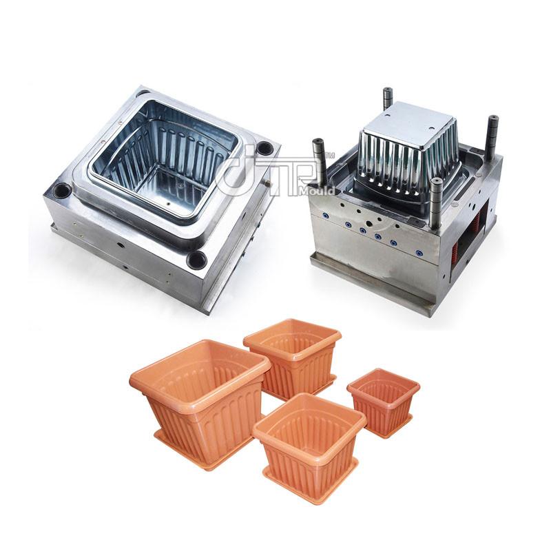 Material de HDPE Molde de alto brillo de molde de maceta de inyección de plástico cuadrado (JTP-A0115)