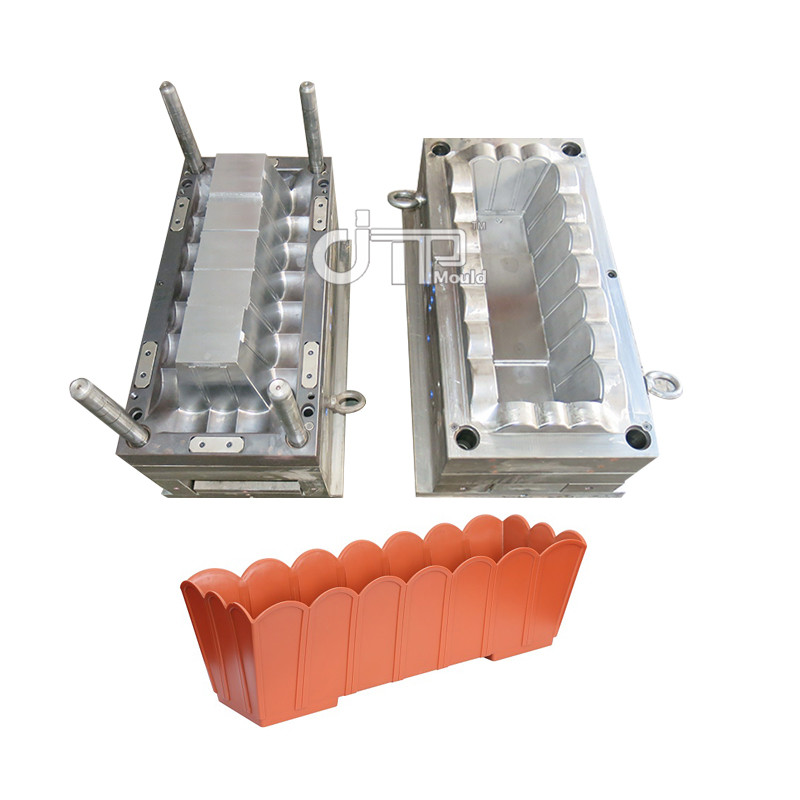 Maceta de plástico para jardín P20 Molde de inyección para maceta de plástico Molde largo para maceta (JTP-A0114)
