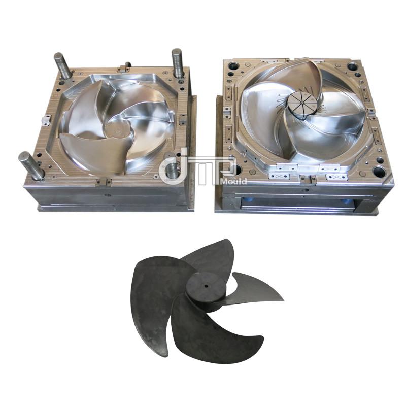 Molde de ventilador de refrigeración por inyección de plástico de cuatro piezas de venta caliente